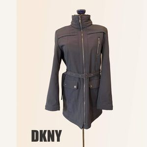 DKNY Grey Belted Jacket